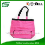 Hot pink strapped cotton bag, leisure bag