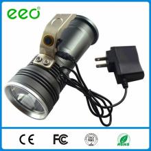 La plus récente conception 5w lampe de poche, lampe de poche rechargeable, lampe de poche rechargeable led