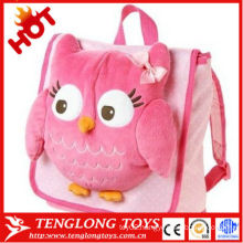 New designed cute beautiful owl plush bag for kids