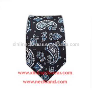 Mens 100% Silk Skinny Paisley Print Ties