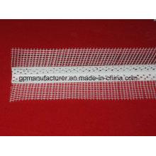 Hermoso perfil de plástico de esquina con malla de fibra de vidrio