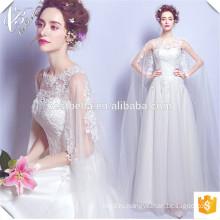Халат де mariage 2016 дешевые длинные рукава элегантный кружева бальное платье свадебные платья