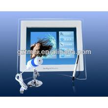 2012 casa portátil ou salão uso pele e cabelo analisador
