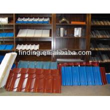 galvanizado pared color del panel revestido azulejo azotea/techo teja corrugado hoja de color