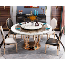 Black Or White Colour Marble Dining Room Furniture