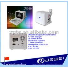 Ultrasonido portátil para el embarazo con DW360 blanco y negro ecografía en modo B ecografo vacunos