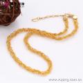 63413 nigerian wedding bead jewelry fashion 18k small bead copper alloy jewelry sets