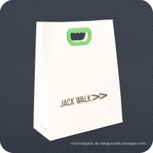 Kraftpapier Einkaufstasche mit Kunststoffgriff