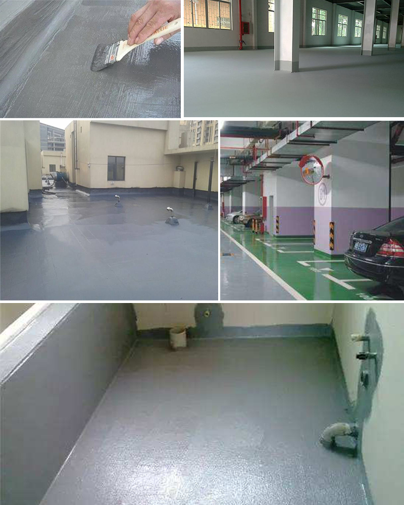 Polyurea floor coating for garage