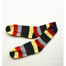 Winter cashmere colorful stripes rib knit socks wholesale unisex socks