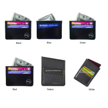 RFID blocking carbon card holder wallet