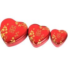Red Heart Shape Custom-made High Quality Wedding Candy Tin Box