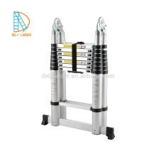алюминиевая двойная телескопическая лестница