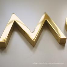 Revêtement de vernis Halo Lit Channe Signe; Signe extérieur de magasin de vente chaude de LED pour desplay publicitaire fort et durable;