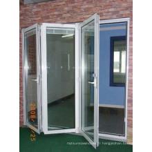 Porte pliante en aluminium de bonne qualité