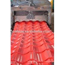 828 rolo de telha vitrificada que dá forma à máquina