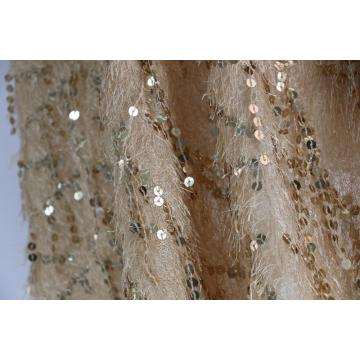 Embroidery sequins fabric for evening garments