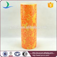 2015 Beliebte Chaozhou Keramik Vase mit Blumen-Design