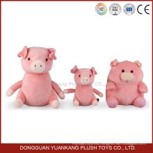 Custom 10 pulgadas de peluche promocional felpa de cerdo