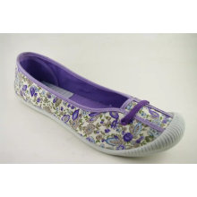 New Women Floral Pattern Cloth Shoes Canvas Shoes (NU038)