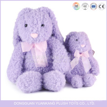Muñeca animal de felpa rellena personalizada Muñeca larga conejo púrpura Juguete