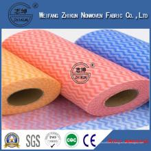 Tissu non-tissé Spunlace en rouleaux pour lingettes humides et lingettes pour bébés