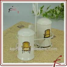 Juego de coctelera cerámica SP con soporte de hierro