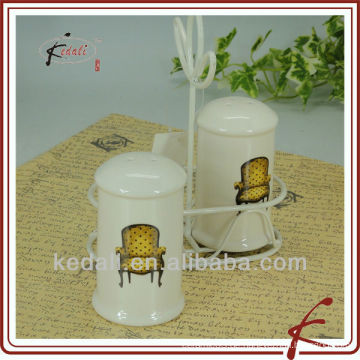 Keramik-SP-Shaker-Set mit Eisenhalter