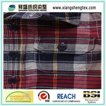 100% algodão fio-tingida tecido xadrez para a camisa