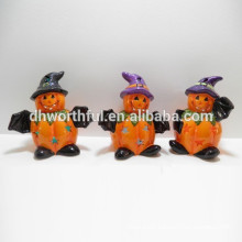 LED halloween ceramic pumpkin decor