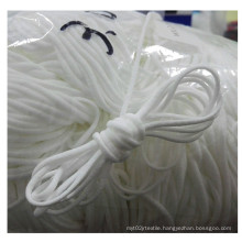 Manufacturer Raw White elastic face medical facemask ear hang string rope for facemasks