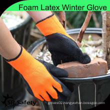 SRSAFETY thick warm nappy liner palm coated latex cold resistant work glove