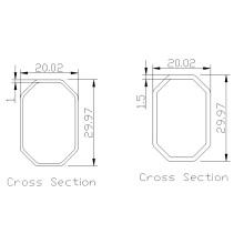 Abrazaderas de tubo de aluminio anodizado no estándar personalizadas