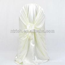 Bequemen satin Stuhlabdeckung hinten binden Stuhlabdeckung für Hochzeit