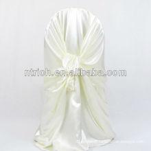 Housse de chaise satin confortable, dos tie couverture de chaise pour mariage