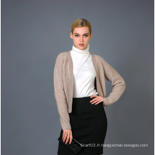 Lady's Fashion Cashmere Blend Cardigan 17brpv110