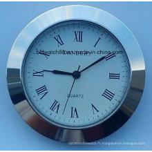 Insertion de petite horloge à quartz personnalisée 50mm