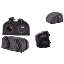 Водонепроницаемый двойной USB порты Автомобильное зарядное устройство гнездо/прикуриватель автомобиля гнездо/гнездо