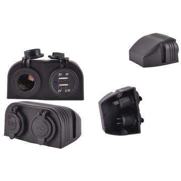 Waterproof Dual USB Ports Car Charger Socket/Car Cigarette Lighter Socket/Jack