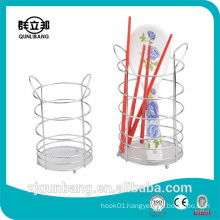 Double ears shape metal spoon and fork storage rack