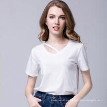 2017 nuevas camisetas de algodón en blanco de diseño de las mujeres