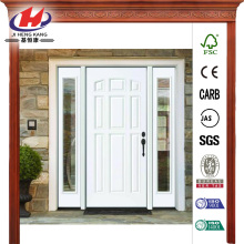 9-Panel Primed White Left-Hand Steel Prehung Front Door
