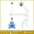 Custom Pregnancy Bio Flex Flexible Assorted Cherry Belly Button Rings
