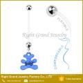 Anéis sortidos flexíveis do umbigo da cereja do cabo flexível da gravidez feita sob encomenda da bio