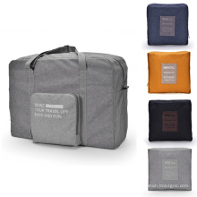 Custom Logo Lightweight Large Capacity Folding Duffle Bag Storage Waterproof Foldable Travel Duffel Luggage Bag