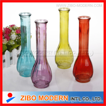 Colored Glass Vases Sprayed Color Flower Vases Used Home Decorate