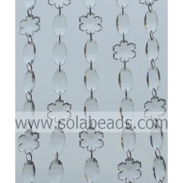 Chain Curtain 34MM&34MM Crystal Ring Beaded Trimming