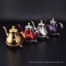 Grande bouilloire d'eau royale de cour de main de style de l'Europe d'acier inoxydable / bouilloire antique d'eau
