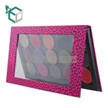 Elegant New Premium Multi-color Custom Design Recyclable Cardboard Empty Makeup Eyeshadow Magnet Palette With Window