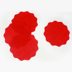 Red sun diecut felt decoration sheet